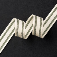 Mossy Meadow 5/8 Striped Cotton Ribbon by Stampin' Up!