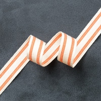 Tangelo Twist 5/8 Striped Cotton Ribbon by Stampin' Up!