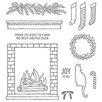 Festive Fireplace Photopolymer Stamp Set by Stampin' Up!