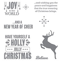 Jolly Christmas Clear-Mount Stamp Set by Stampin' Up!