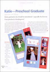 Preschool Graduation Scrapbook Page image