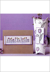 A Line-Up of Flowers card and giftbox image