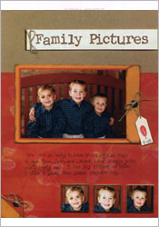 Family Pictures Scrapbook Page image