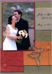 Spring Wedding Scrapbook Page image