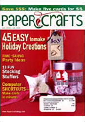 Paper Crafts December 2005/January 2006 cover