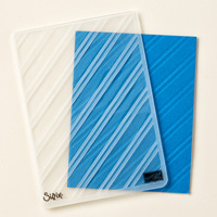 Stylish Stripes Textured Impressions Embossing Folder by Stampin' Up!