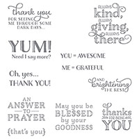 Me = Grateful Wood-Mount Stamp Set