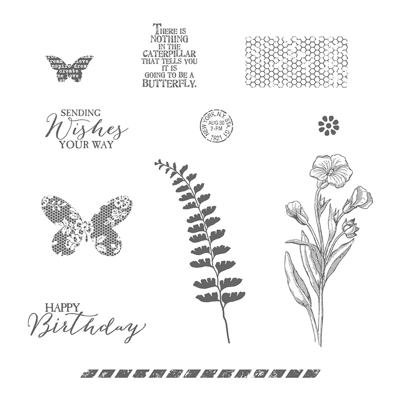 Butterfly Basics Wood Mount Stamp Set