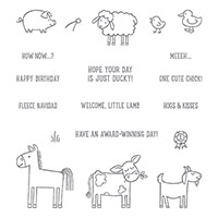 Barnyard Babies Clear-Mount Stamp Set