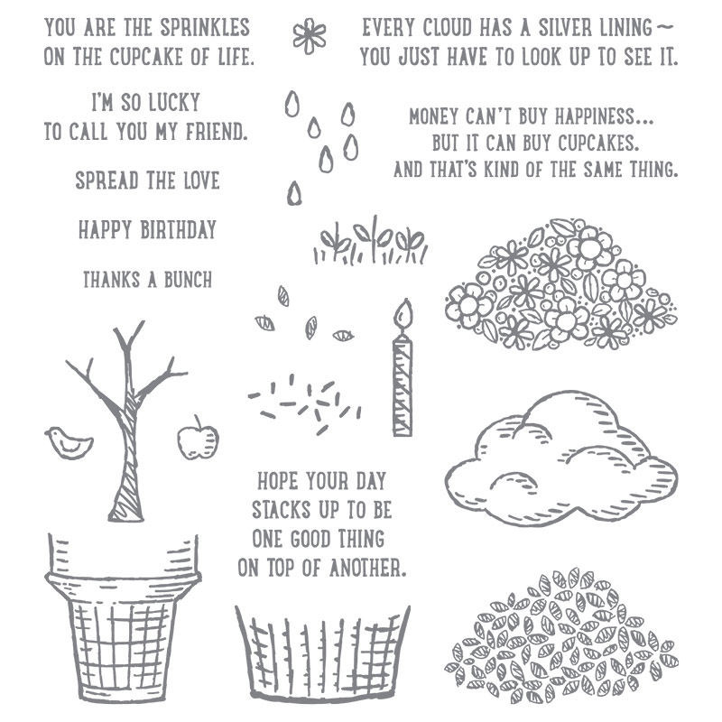 Sprinkles Of Life Photopolymer Stamp Set By Stampin Up