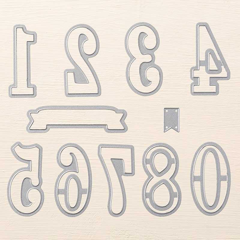140622 - Large Numbers Framelits Dies