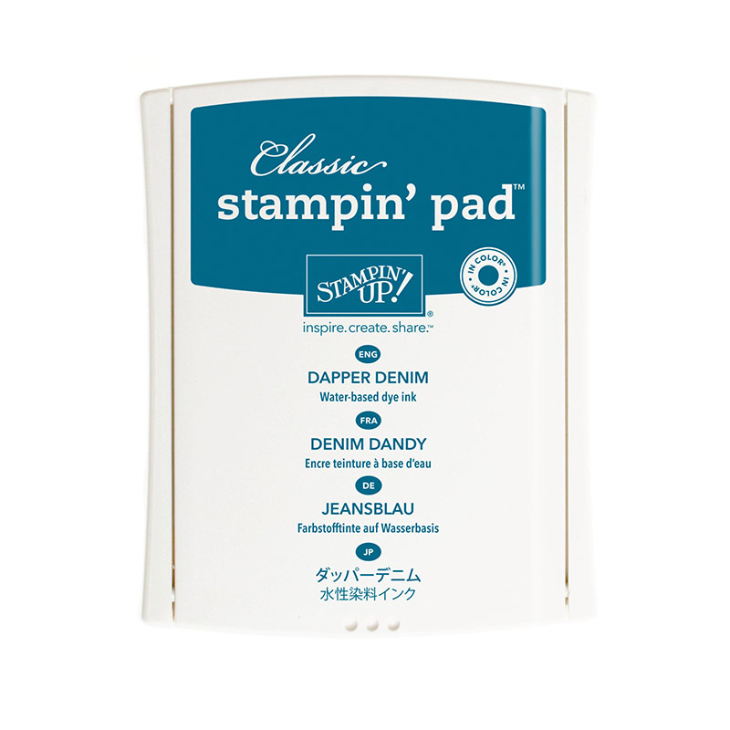 141394 - 2016-2018 In Color Classic Dapper Denim Stamp Pad