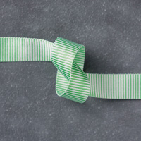 Cucumber Crush 5/8 (1.6 cm) Mini Striped Ribbon