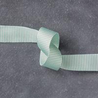 Mint Macaron 5/8 (1.6 cm) Mini Striped Ribbon