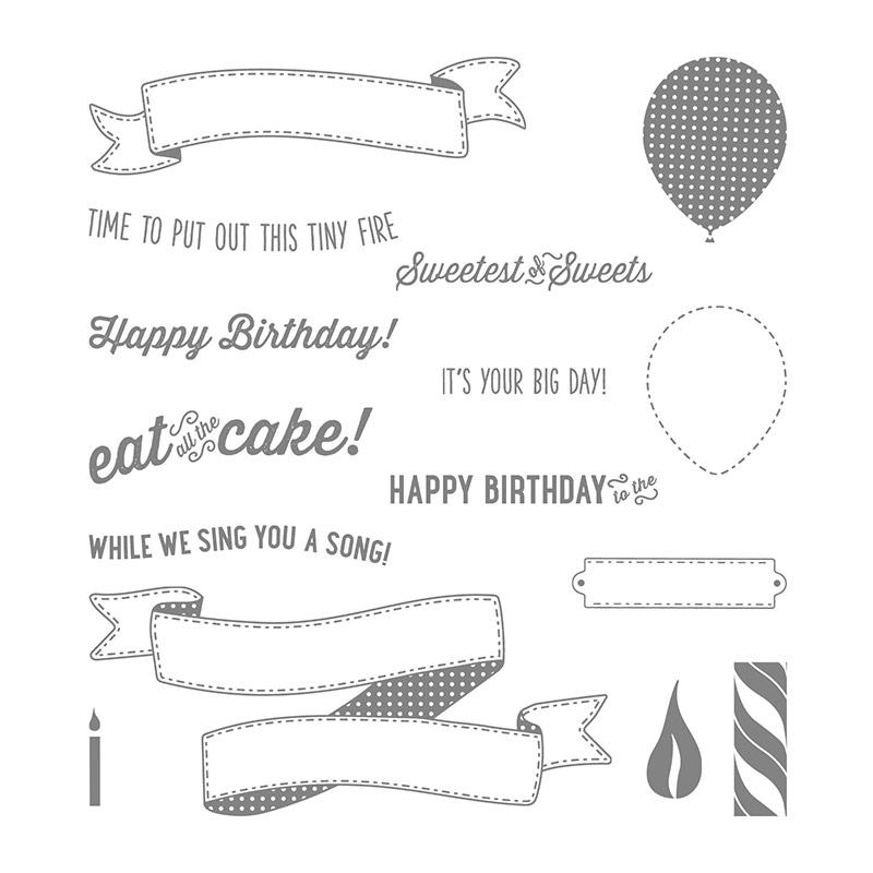 Birthday Banners Photopolymer Stamp Set