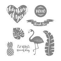 Pop of Paradise Wood-Mount Stamp Set