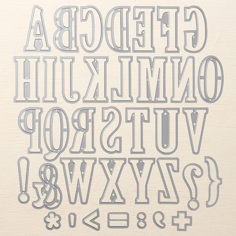141712 - Large Letters Framelits Dies