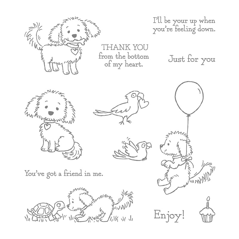 141870 - Bella & Friends Clear Stamp Set