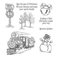 Christmas Magic Wood-Mount Stamp Set