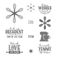 Yummy Little Christmas Wood-Mount Stamp Set