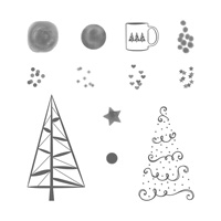 Twinkle Trees Photopolymer Stamp Set