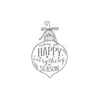 Happy Ornament Wood-Mount Stamp
