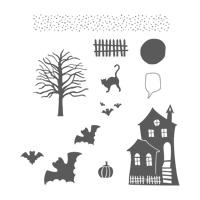 Halloween Scares Wood-Mount Stamp Set
