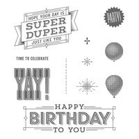 Super Duper Wood-Mount Stamp Set