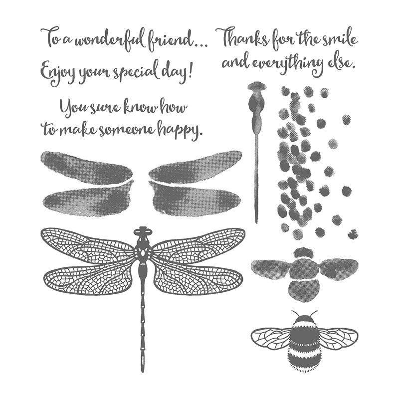 Dragonfly Dreams Photopolymer Stamp Set By Stampin Up