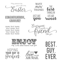Suite Sentiments Clear-Mount Stamp Set