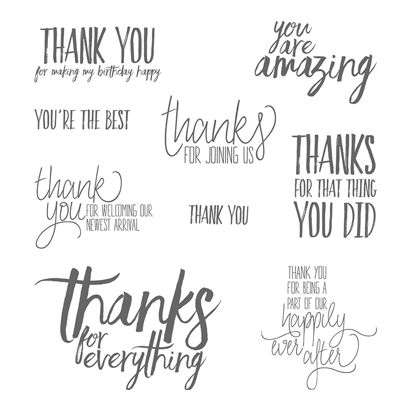 All Things Thanks Clear Mount Stamp Set By Stampin Up