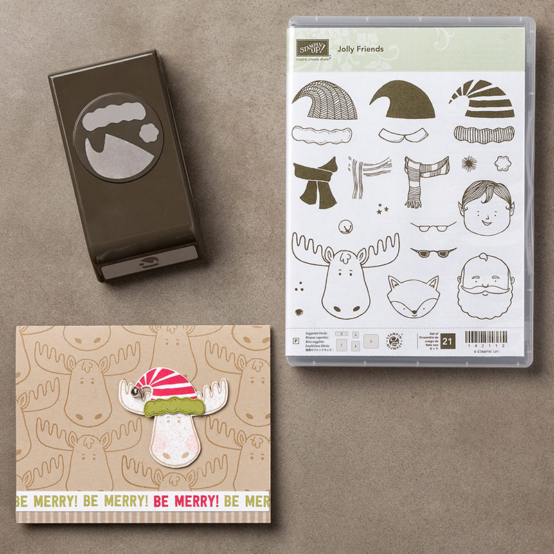 Jolly Friends Bundle $52.00 (Stamp Set & Punch)