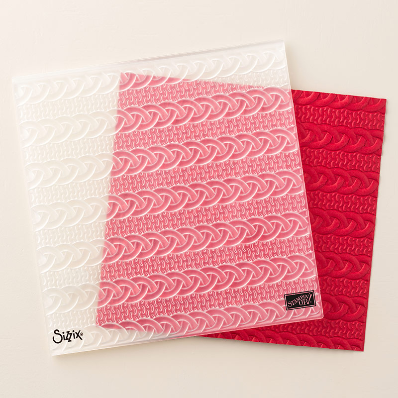 Cable Knit Dynamic Textured Impressions Embossing Folder By Stampin Up