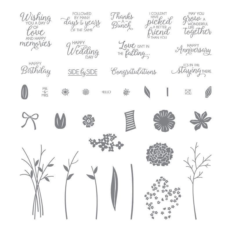 143666 - Beautiful Bouquet Photopolymer Stamp Set