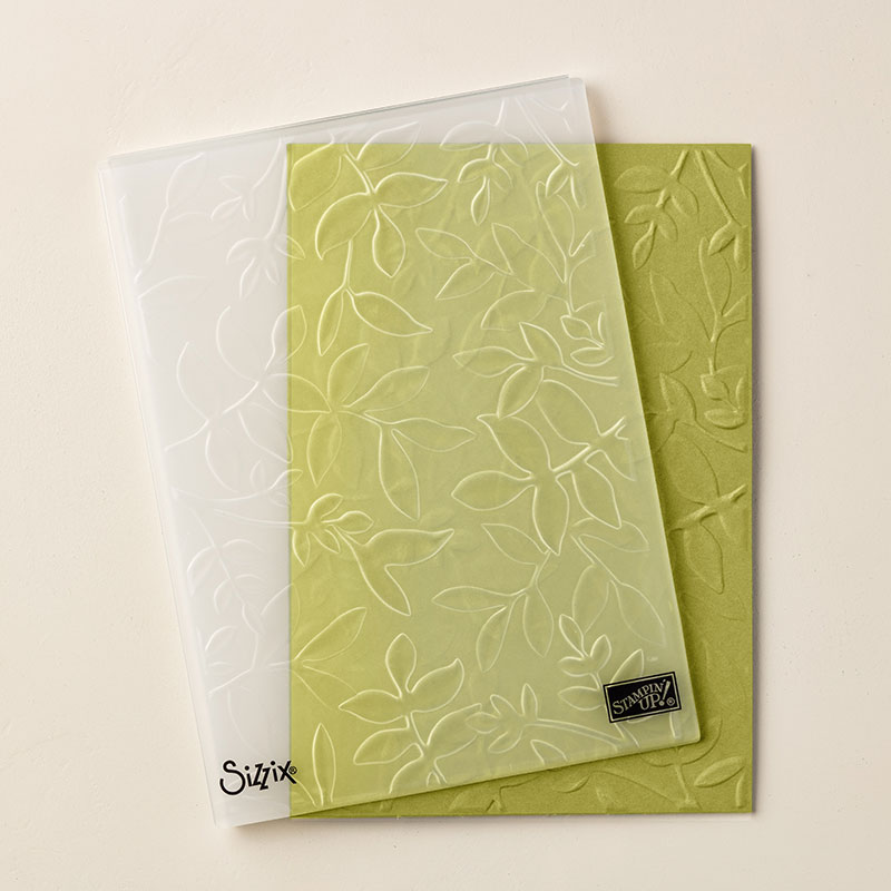143704 - Layered Leaves Dynamic Textured Impressions Embossing Folder