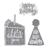 Celebrate You Wood-Mount Stamp Set