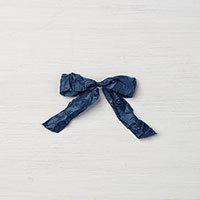 Night of Navy 5/8 Crinkled Seam Binding Ribbon