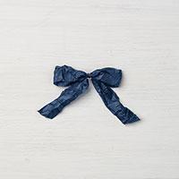 Night of Navy 5/8 Crinkled Seam Binding Ribbon