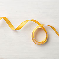 Crushed Curry 3/8 Mini Chevron Ribbon