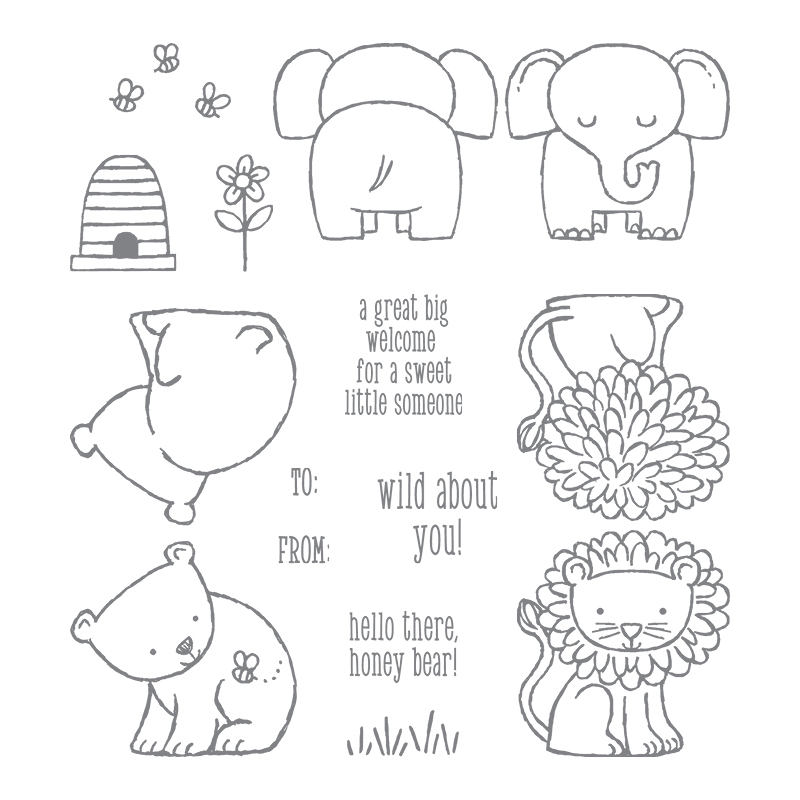 144344 - A Little Wild Clear Stamp Set