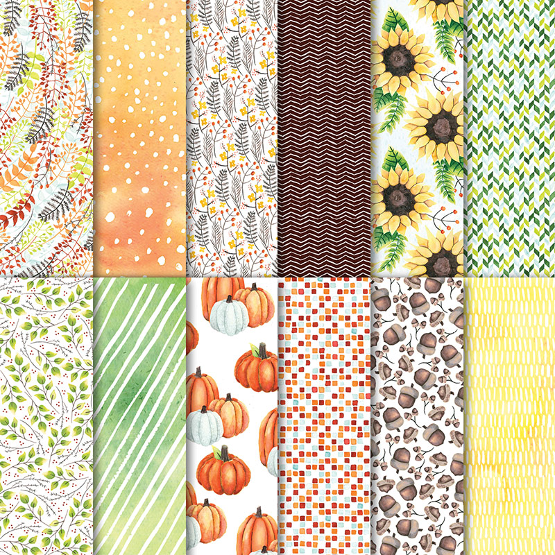 144613 - Painted Autumn Designer Series Paper