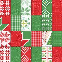 Quilted Christmas 6 x 6 (15.2 x 15.2 cm) Designer Series Paper