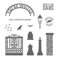 Graveyard Gate Wood-Mount Stamp Set