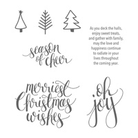 Watercolor Christmas Clear-Mount Stamp Set