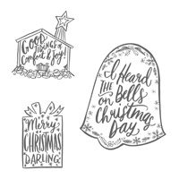 Darling Christmas Wood-Mount Stamp Set