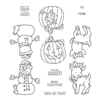 Seasonal Chums Clear-Mount Stamp Set