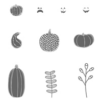 Pick a Pumpkin Wood-Mount Stamp Set