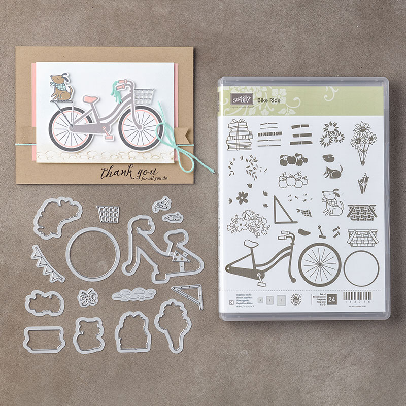 bike ride photopolymer bundle by stampin up