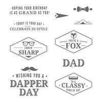 Truly Tailored Clear-Mount Stamp Set