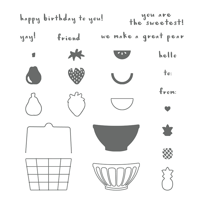 145833 - Fruit Basket Photopolymer Stamp Set